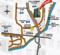 Peta Apartemen Pulo Gebang
